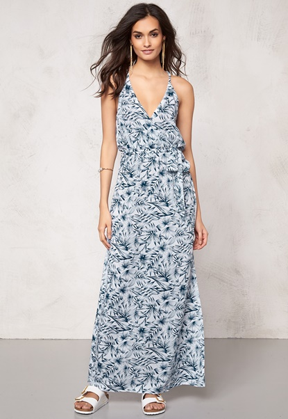 Make Way Nicole Dress White / Blue / Patterned Bubbleroom.eu