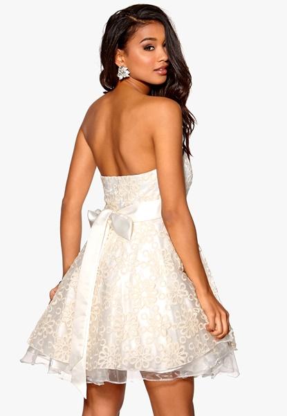 Model Behaviour Cecilia Dress White Bubbleroom.se