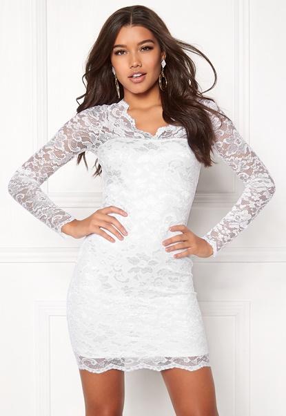 Model Behaviour Simone Dress White Bubbleroom.se