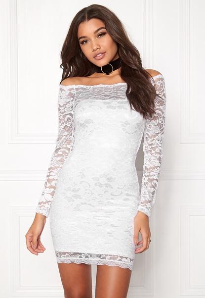 Model Behaviour Stina Dress White Bubbleroom.se