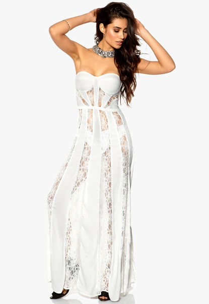 Make Way Aby Dress White Bubbleroom.se