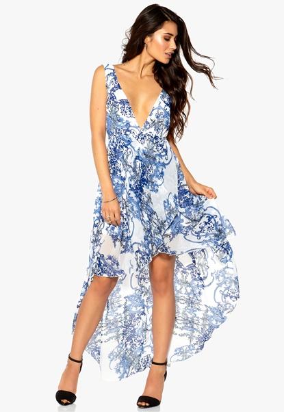 Make Way Ashanti Dress Blue Printed Bubbleroom.se