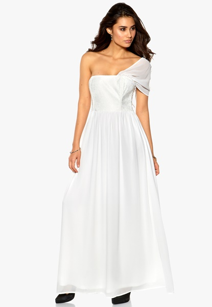 Make Way Ashleigh Dress White Bubbleroom.se