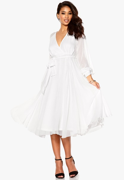 Make Way Elah Dress White Bubbleroom.se