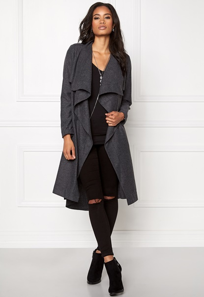 OBJECT Ann Lee Wool Jacket Dark Grey Melange Bubbleroom.dk