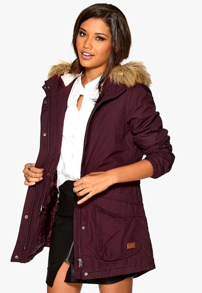 ONLY London Cotton Coat OTW BB Tawny Port Bubbleroom.se
