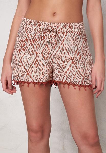 ONLY Mika Tribal Tiles Shorts Whitecap Grey Bubbleroom.eu