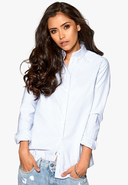 ONLY Oxford LS Shirt Striped white Bubbleroom.se