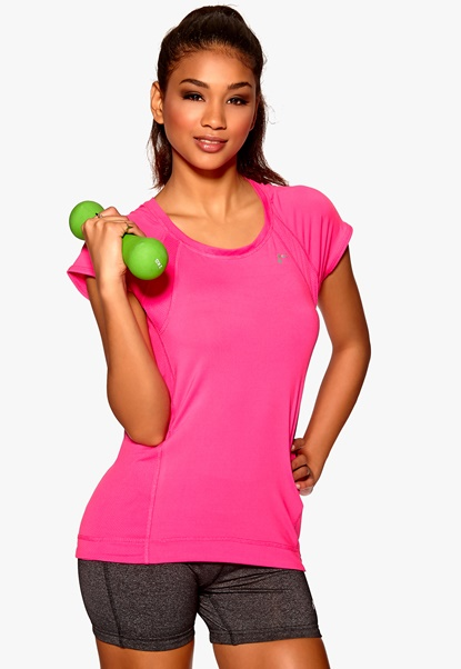 ONLY PLAY Claire SS Training Top Pink Glo Bubbleroom.se