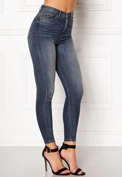 ONLY Posh HW Cropped Jeans Dark Blue Denim Bubbleroom.no