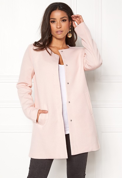 ONLY Sidney Light Coat Rose Quartz Bubbleroom.se