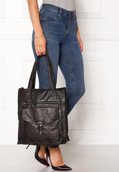 Pieces Abby Leather Shopper Black Bubbleroom.se