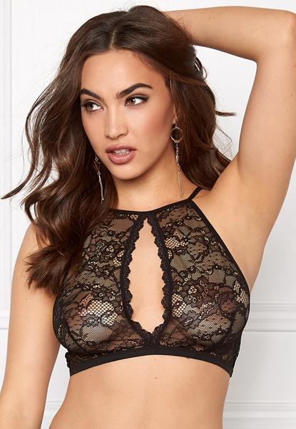 Pieces Recilia lace bra Black Bubbleroom.dk