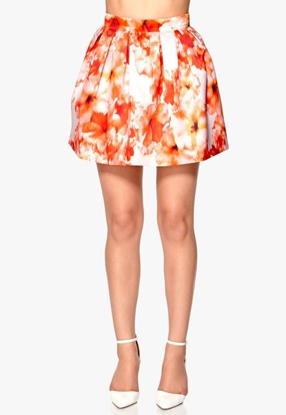 RX Hypnotized Skirt Orange/Patterned Bubbleroom.se