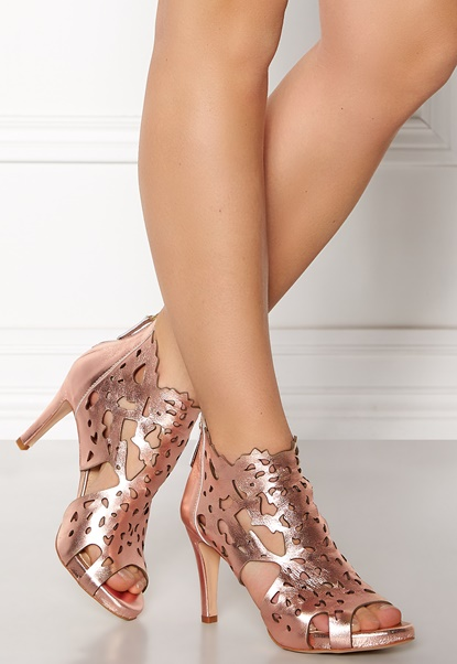 SARGOSSA Shades Nappa Leather Heels Rose Gold Bubbleroom.se