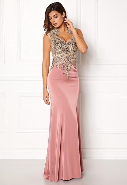 SUSANNA RIVIERI Embellished Maxi Dress Rose Bubbleroom.no