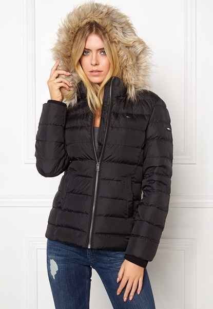 TOMMY HILFIGER DENIM Basic Down Jacket 078 Tommy Black Bubbleroom.no