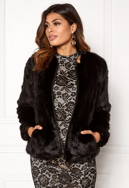 Twist & Tango Viola Faux Fur Jacket Black Bubbleroom.se