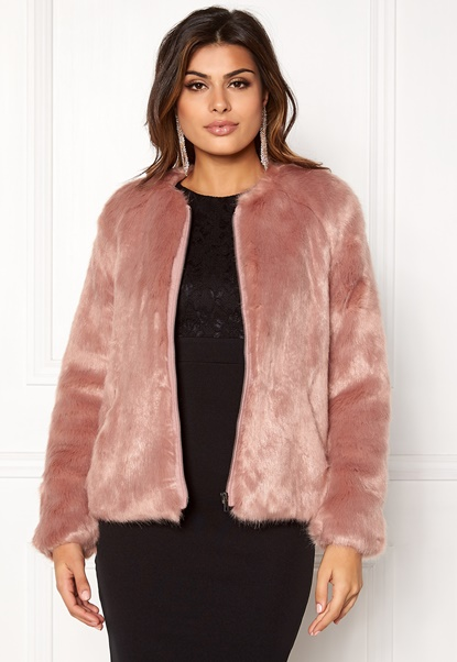 Twist & Tango Viola Faux Fur Jacket Rose Bubbleroom.se