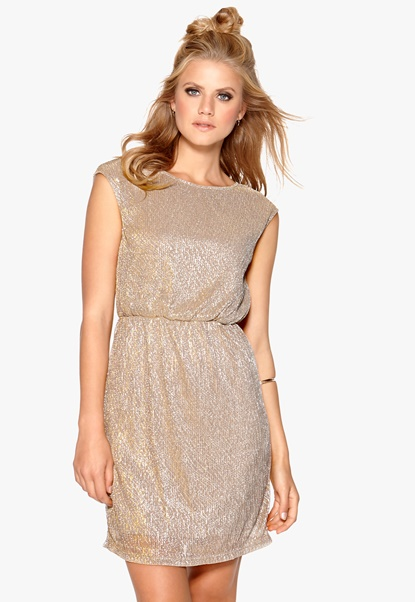 VILA Aldis s/s dress Etherea Bubbleroom.no