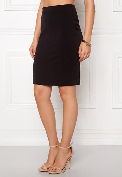VILA Asmin Skirt Black Bubbleroom.dk