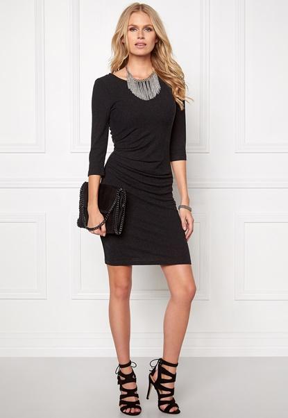 VILA Nimas Detail Dress Black Bubbleroom.no