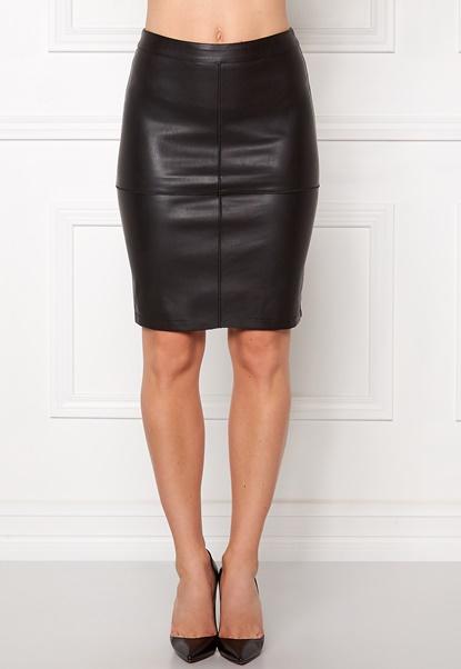 VILA Pen New Skirt Black Bubbleroom.no