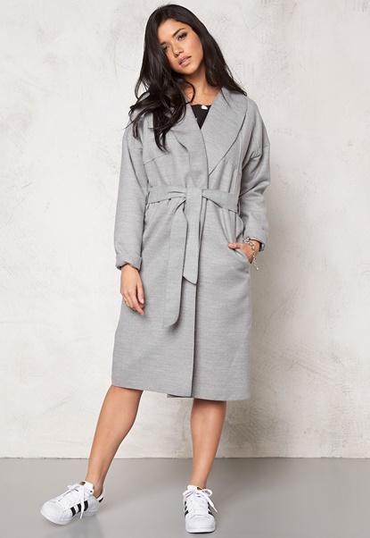 VILA Resin Jacket Light Grey Melange Bubbleroom.dk