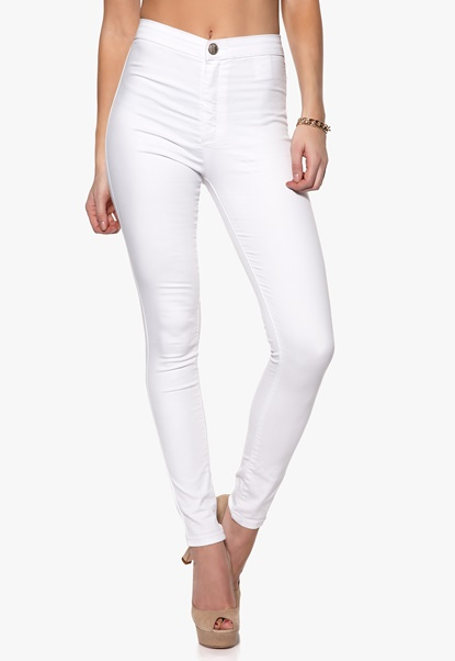 Mixed from Italy High Waisted Skinny Jeans White Bubbleroom.se