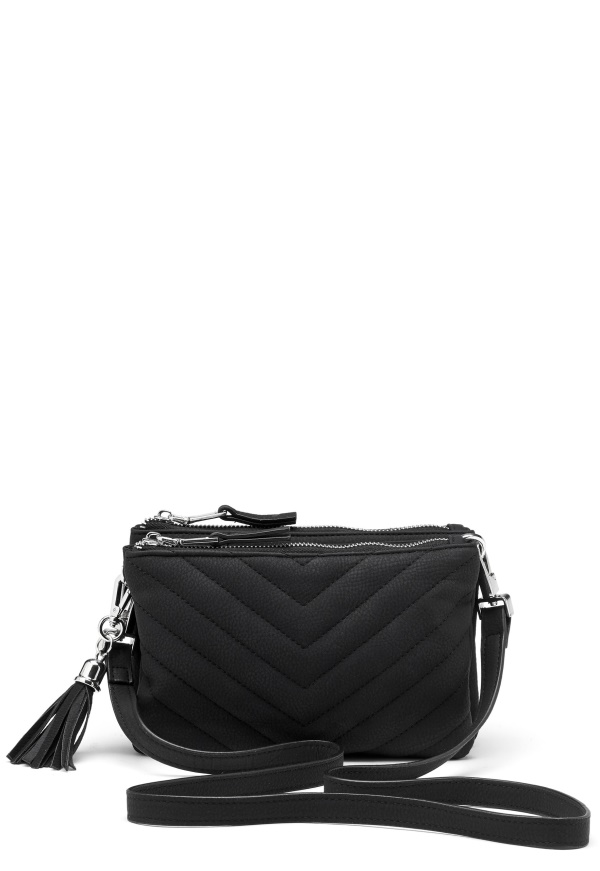 Object Adelle Pu Quilted Bag Black Bubbleroom