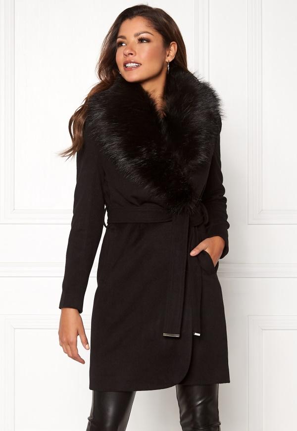 Chiara Forthi Verona Coat Black Bubbleroom