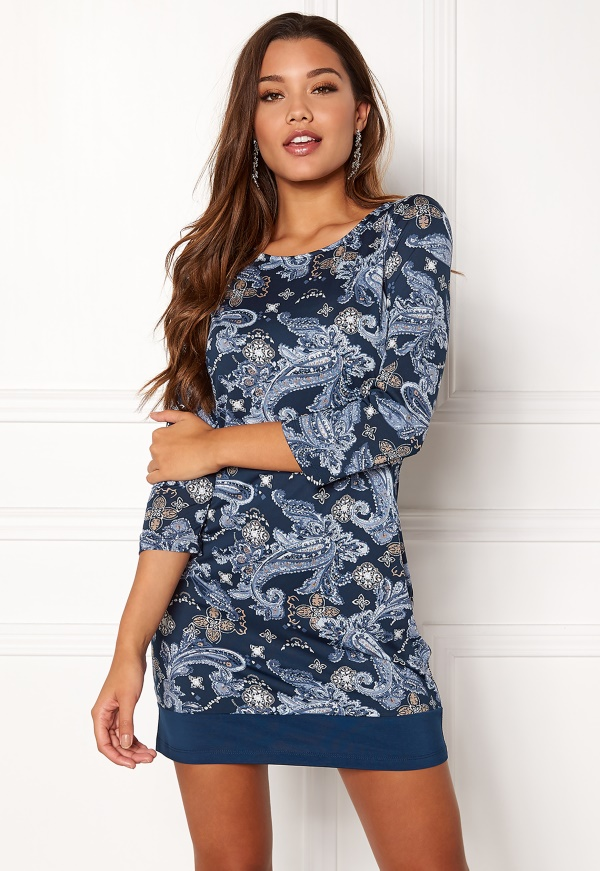 3234S 3638S 4042S 4446S 4850S 5254S 3234L 3638L 4042L 4446L. happy holly  belicia dress blue patterned d62392abfe