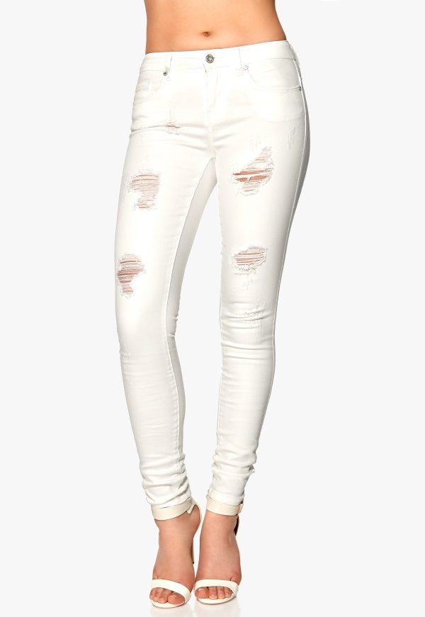 ONLY Coral Jeans White - Bubbleroom