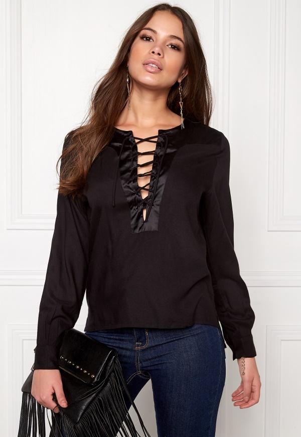 rut   circle elin lace up blouse 001 black 0455dcaa351ec