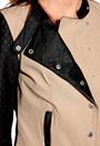 ONLY Licens PU Jacket Black/Beige
