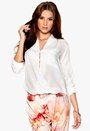 Rut & Circle Camille Wrap Blouse 002 Optical White Bubbleroom.se