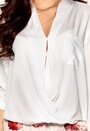 Rut & Circle Camille Wrap Blouse 002 Optical White