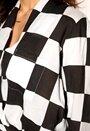 Rut & Circle Camille Wrap Blouse 190 Black/White