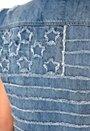 ONLY Stars&Stripes Waistcoat Medium Blue Denim
