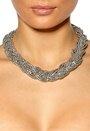 Pieces Danno Necklace Silver Colour Bubbleroom.se