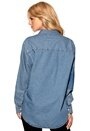 CHEAP MONDAY Twotone Denim Shirt Left Eye Blue