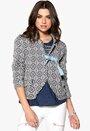 Odd Molly Lovely Knit Jacket Mid Indigo Bubbleroom.se