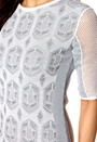 DAGMAR Hanima Lace Dress Tonal Grey/White