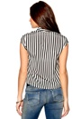 Rules by Mary Elise Blouse Black White Stripe