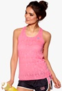 ONLY PLAY Erica Burn Out Top Neon Pink