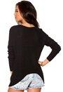 Y.A.S Crop Knit Pullover Black