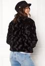 VERO MODA Curl Short Fake Fur Jacket Black