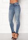 Blush Mid Raw Jeans
