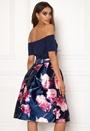 Bardot Floral Prom Dress