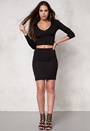 77thFLEA Saint Tropez Top + skirt Black